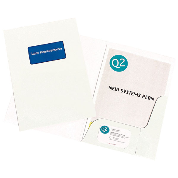 Marbig® Professional Presentation Folders A4 Gloss White Pk20