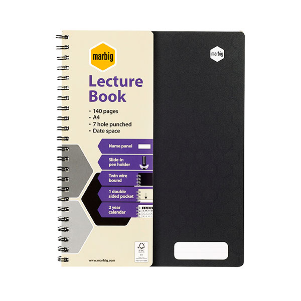 Marbig® Lecture Book Pp 140pg (Pack of 10)