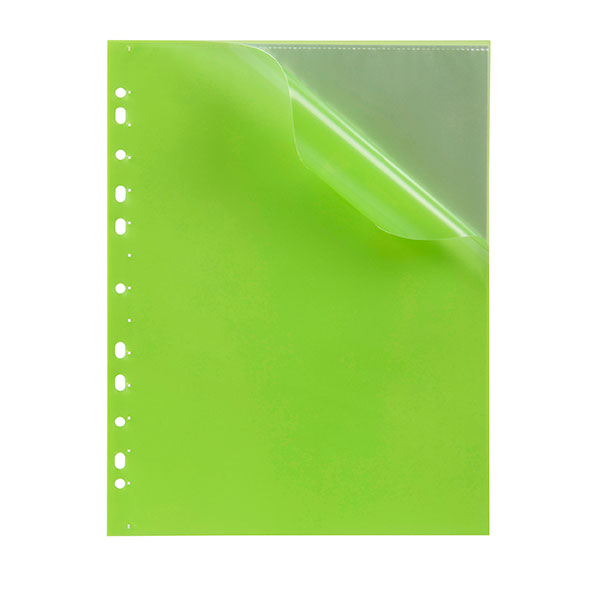 Marbig® Soft Touch Binder Display Book A4 10 Pocket Lime