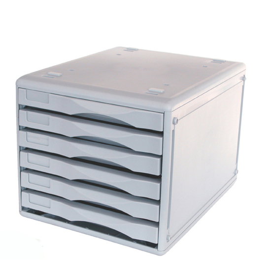 Metro 234397 Desktop 3439 Multi Drawer Storage System B4 6 Drawers Light Grey