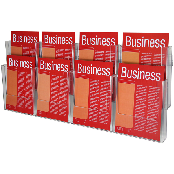 Esselte Brochure Holder Wall Sys A4 2t-8 Comp