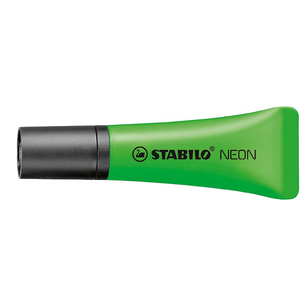 Stabilo Neon Highlighter Green Box 10