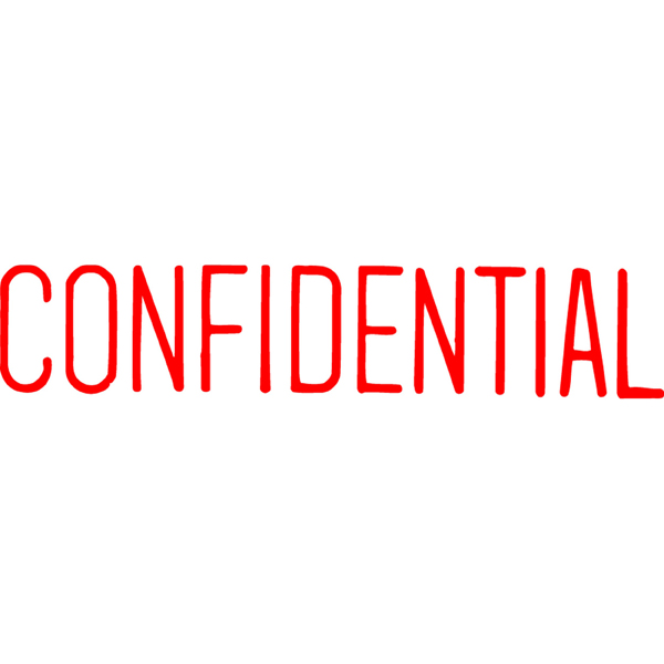 Xstamper Cx-bn 1130 Confidential Red