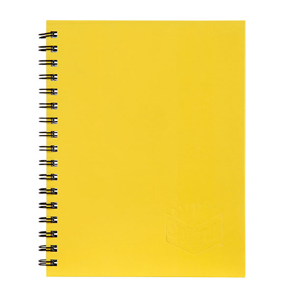 Spirax 512 Hard Cover Book A4 200 Page Yellow (Pack of 5)
