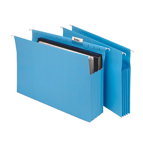 Marbig® Expanding Suspension Files Complete Blue Pk20 5 Pack