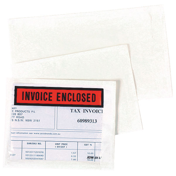 Marbig® Invoice Enclosed 115x150mm Box 1000