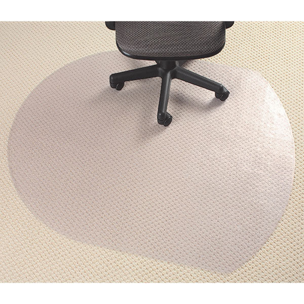 Marbig® Chairmat Glass Clear Pvc Low Contempo 99x124cm