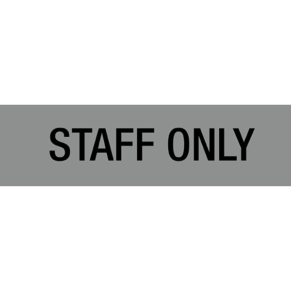 Apli Self Adhesive Signs Staff Only Pk 1
