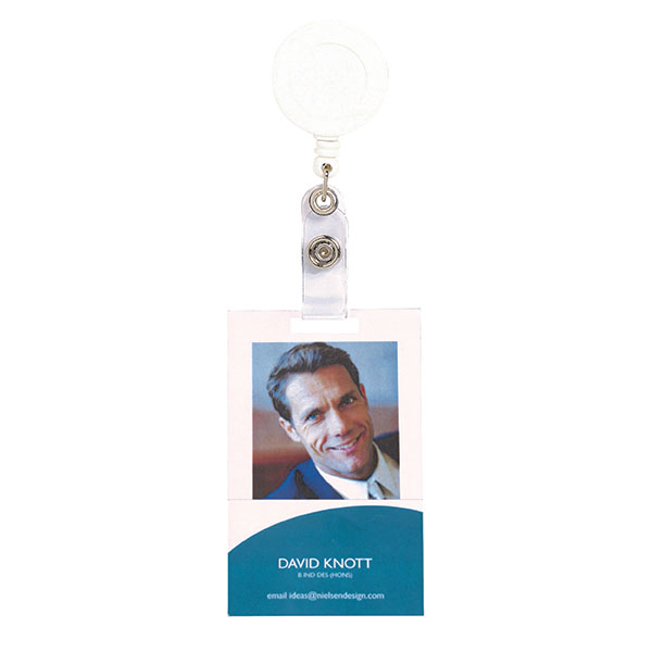 Rexel Id Retractable Card Holder With Strap White