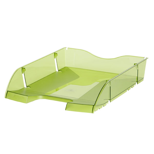 Helit Transparent Green Document Tray