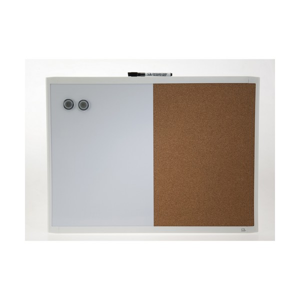 Quartet Combo Board White Frame 430x580mm